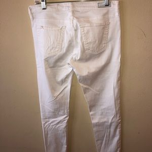 """Ag Adriano Goldschmied Jeans - white AG """"the Stevie Ankle"""" slim straight leg jean"""